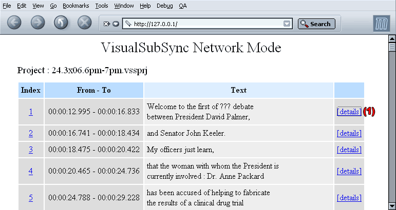 Network mode home page